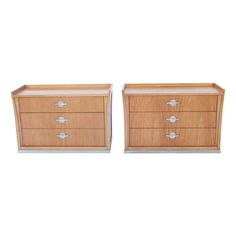 "Pair Jay Spectre ""Perimeter"" for Century Furniture Chests / Night Stands Mahogany"