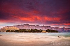 New Zealand Images | The Remarkables  Lake Wakatipu from Queenstown Gardens at sunset | Flickr - Photo Sharing!