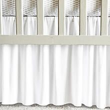 Oliver B White Pleated Modal Crib Skirt