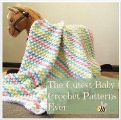 Nothing's as adorable as a sleeping baby's face, new and cute, peeking out from a crochet baby blanket. Keep your new baby warm with these 50+ Free Baby Blanket Crochet Patterns, chosen by your friends at AllFreeCrochet.com.
