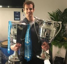 World number one Andy Murray aims for more Grand Slam trophys…. Andy Murray, Jamie Murray, Christmas Pranks, Wimbledon Champions, Davis Cup, News Around The World, Tennis Stars, Roger Federer, Tennis Players