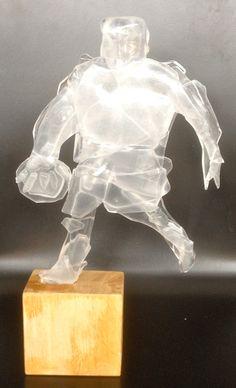 Basketballplayer-glass fusing