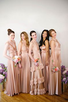 Mismatched Bridesmaids Dresses from Twobirds