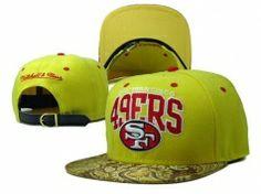 San Francisco Strapback Caps Yellow Gold cheap for sale 443cc40a2