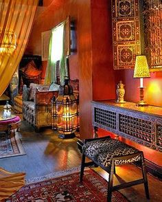 exotic decoration moroccan style furniture and lighting fixtures and fabrics : Moroccan Exotic Decoration For The Home. exotic decorating ideas,exotic home decorations,exotic moroccan decor,exotic moroccan style decorating,moroccan decor Bohemian Interior, Home Interior, Interior And Exterior, Interior Design, Bohemian Room, Gypsy Room, Bohemian Bedrooms, Bohemian Living Rooms, Modern Interior