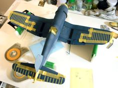 Here is image 11 of our Tamiya 60325 Corsair build. F4u Corsair, Modeling Techniques, Model Hobbies, Model Airplanes, Model Building, Tamiya, Plastic Models, Scale Models, Wwii
