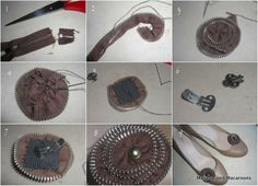 DIY shoe bling and zipper flower tutorial - Makeup and Macaroons