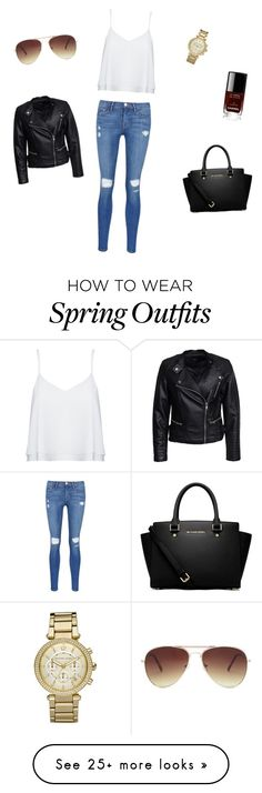 """Spring/Autumn Outfit"" by beauty-f on Polyvore featuring Alice + Olivia, Sisters Point, Frame Denim, MICHAEL Michael Kors, Michael Kors, Chanel and Forever 21"