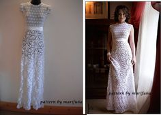 Wedding Dress free crochet pattern video tutorial