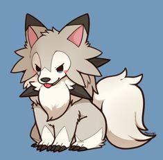 Pokemon Sun and Moon Dog Pokemon, Pokemon Fan Art, Pokemon Sun, Cute Pokemon Pictures, Pokemon Images, Cute Animal Drawings, Cute Drawings, Pokemon Mignon, Pokemon Eeveelutions