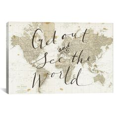 Found it at Wayfair - Get Out and See the World by Sara Zieve Miller Graphic Art on Wrapped Canvas