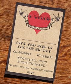 Rock N Roll Wedding Stationery from Not On The High Street.