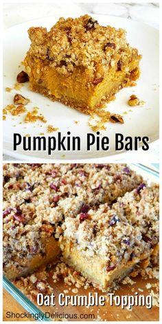 Pumpkin Pecan Pie, Pumpkin Dessert, Pumpkin Cheesecake, Pumpkin Recipes, Cookie Recipes, Dessert Recipes, Bakery Recipes, Yummy Recipes, Healthy Recipes