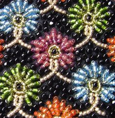 Brodrie Embroidery Stitches, Embroidery Patterns, Hand Embroidery, Sewing Patterns, Couture Embellishment, Crystal Embroidery, Baubles And Beads, Brazilian Embroidery, Art N Craft