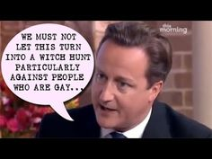 WOW MUST SEE : David Cameron thinks all peadophiles are gay !!