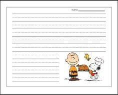 Charlie Brown Thanksgiving Writing Paper {FREEBIE} The perfect paper for Thanksgiving writing projec Thanksgiving Worksheets, Thanksgiving Writing, Thanksgiving Crafts, Fun Classroom Activities, Classroom Themes, Snoopy Classroom, Charlie Brown Thanksgiving, First Year Teaching, Charlie Brown And Snoopy
