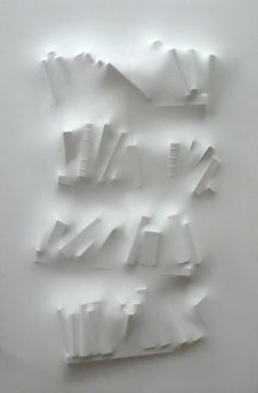 Loris Cecchini - Extruding Bodies - Gaps (books I), 2005 polyester, wall paint