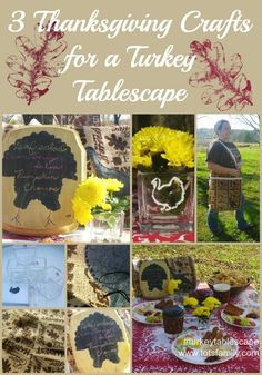 3 Thanksgiving Crafts for a Turkey Tablescape #turkeytablescapes - Thinking Outside The Sandbox Family Easy Thanksgiving Recipes, Thanksgiving Food Crafts, Thanksgiving Turkey, Thanksgiving Decorations, Diy Cans, Cooking Turkey, Turkey Craft, Crochet Gifts, Fall Food