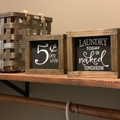 Laundry Room Sign Collection Funny Laundry Signs Laundry | Etsy Laundry Room Wall Decor, Laundry Room Signs, Laundry Humor, Laundry Shelves, Coffee Bar Signs, Rustic Wood Signs, Hanging Signs, Vinyl Lettering, Gifts For Mom