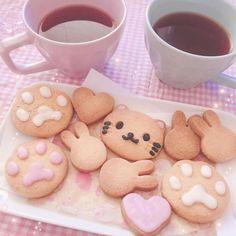 Cute Baking, Kawaii Dessert, Cute Snacks, Japanese Snacks, Cafe Food, Aesthetic Food, Cookies Et Biscuits, Sweet Treats, Food Porn