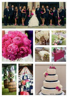 Navy and Raspberry wedding ideas