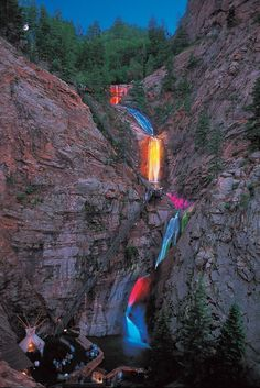 7 falls in Colorado Springs: I made it the first level but couldn't do the 2nd. Nick got halfway up the 2nd. The altitude really is different and makes one feel light-headed but it is a spectacular site to see