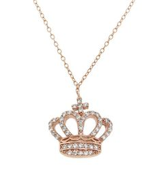 Another great find on #zulily! Cubic Zirconia & Rose Gold Elizabeth Crown Pendant Necklace #zulilyfinds