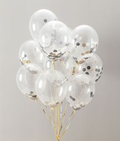 These beauties are back! These black and gold confetti balloons are stunning and a classy addition to your party celebrations or wedding. #hen #party #balloons #classy #bridal #shower #wedding #decorations