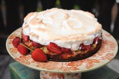 German Strawberry Rhubarb Cake