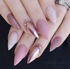 On average, the finger nails grow from 3 to millimeters per month. If it is difficult to change their growth rate, however, it is possible to cheat on their appearance and length through false nails. Are you one of those women… Continue Reading → Best Acrylic Nails, Acrylic Nail Designs, Nail Art Designs, Paint Designs, Solid Color Nails, Nail Colors, Colours, Bridal Nails, Wedding Nails