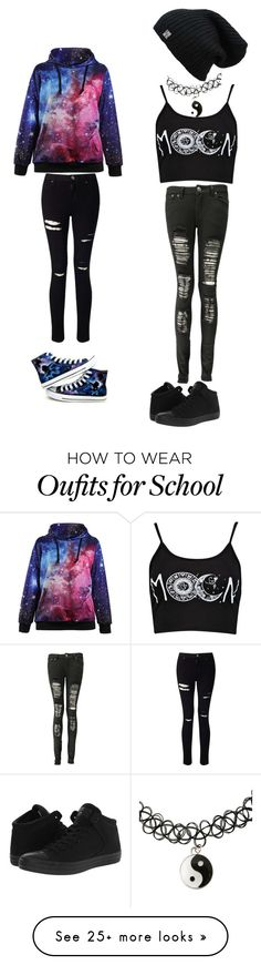 """School Ideas"" by brittanygordon37 on Polyvore featuring Miss Selfridge and Converse"