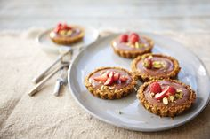 Chocolate-Pistachio Tartlets with Summer Fruit
