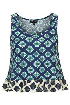 42ff370e194 Mix and Match Tile Peplum Top from Topshop Curvy Fashion, I Love Fashion,  Cute