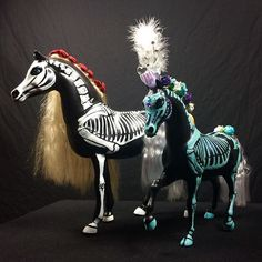 Horse repaints.#horseart #horse #austintx #austin #roswellnm #newmexico #dayofthedead #dayofthedeadart #skullhorse #sugarskullart #sugarskullhorse #barbiehorses #recycledart