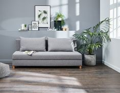 Vuodesohva NORSMINDE vaaleanharmaa Bekvam, My House, Love Seat, Couch, Throw Pillows, Furniture, Home Decor, Lab, Room Ideas