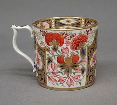 Cup (part of a service) - Crown Derby Coffee Cups, Tea Cups, Royal Crown Derby, Museum Collection, China Porcelain, Metropolitan Museum, Bone China, Floral Design, British