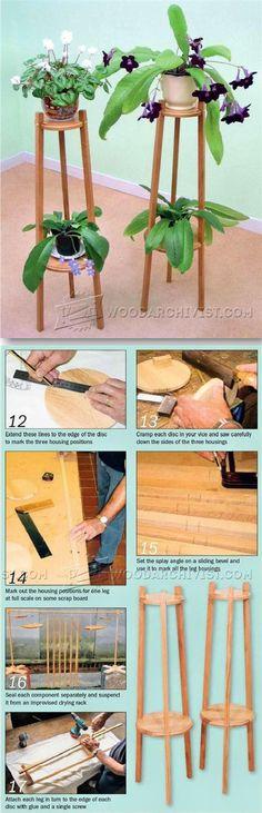 Oak Plant Stand Plans - Furniture Plans and Projects | WoodArchivist.com