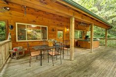 Creekside - This cabin is beautifully decorated and is the perfect place to start your Smoky Mountain Getaway! http://www.auntiebelhams.com/cabins/55-creekside