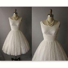 prom dress // vintage white lace chiffon full w 50s Prom Dresses, Dresses For Teens, Wedding Dresses, Lace Dress, Lace Chiffon, White Dress, Vintage 1950s Dresses, Vintage Prom, White Lace