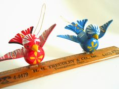 Wooden Bird Christmas Ornaments with Clips. $9.00, via Etsy.    These little birds are just perfect ornaments.