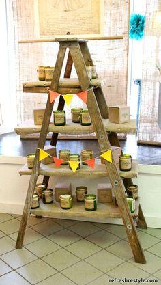 ladder shop display shelf