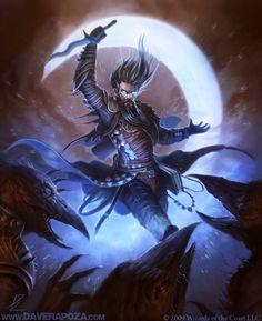 Cosmic Sorcerer by Dave Rapoza - warrior - Art of Fantasy