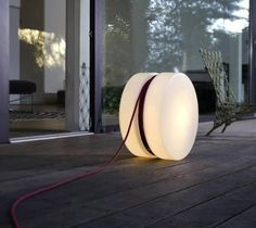Yoyo floor Lamp - The 'Yoyo' floor lamp from Authentics features the iconic design of the ever-popular Yo-Yo. The creative lamp uses the extension chord . Outdoor Floor Lamps, Outdoor Light Fixtures, Outdoor Flooring, Outdoor Lighting, Indoor Outdoor, Outdoor Ideas, Modern Lighting, Lighting Design, Lighting Ideas