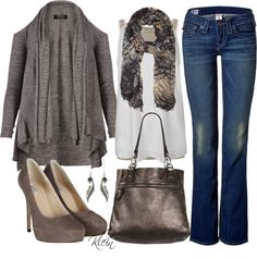 """""""Fall Outfit::Shades of Brown"""" by stacy-klein on Polyvore"""
