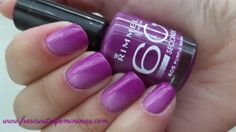 Sinful Shine Pragmatic, Rimmel London Purple Reign