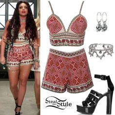 "Little Mix ""Black Magic"" Music Video - youtube - I want this outfit so bad. I'd feel like a summer goddess!"
