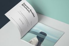 A modern perspective square psd brochure mockup and psd booklet mockup template. You can add your own graphics with ease thanks...