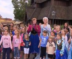 """Frozen's 'Let it Go' sing-along performed at Walt Disney World. Get ready to go, """"aweeee."""""""