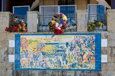 Ponte de Lima's place in Roman history is commemorated in tile on a wall in the center of town. - Anitasfeast.com