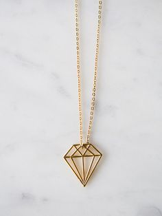 Gold Bits–Diamond - 18 Karat Gold Plated Necklace by honeyandbloom
